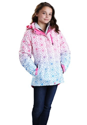 Click Here to buy Marvel Avengers All Over Print Ski Coat for Girls from HalloweenCostumes, USA Funds & Shipping