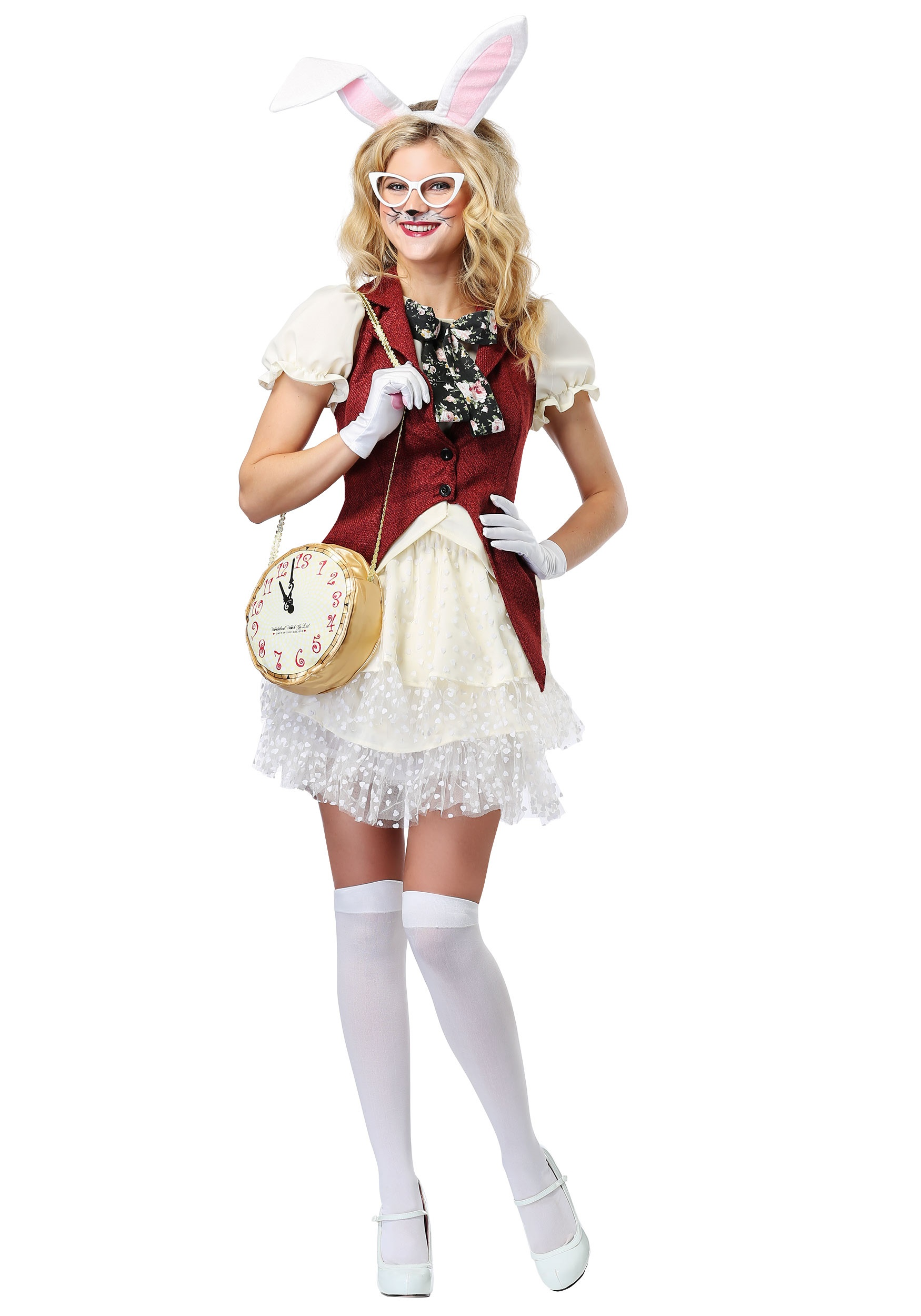Womenu0027s White Rabbit Costume  sc 1 st  Halloween Costumes : girls rabbit costume  - Germanpascual.Com