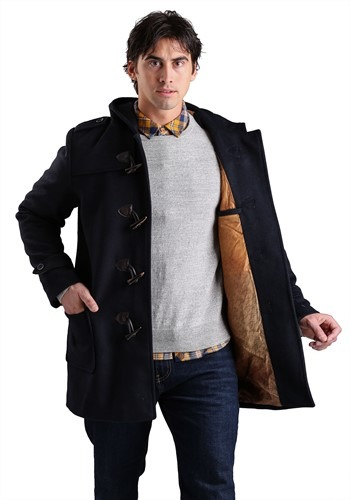 Click Here to buy Marvel Avengers Subtle Duffel Coat for Men from HalloweenCostumes, USA Funds & Shipping