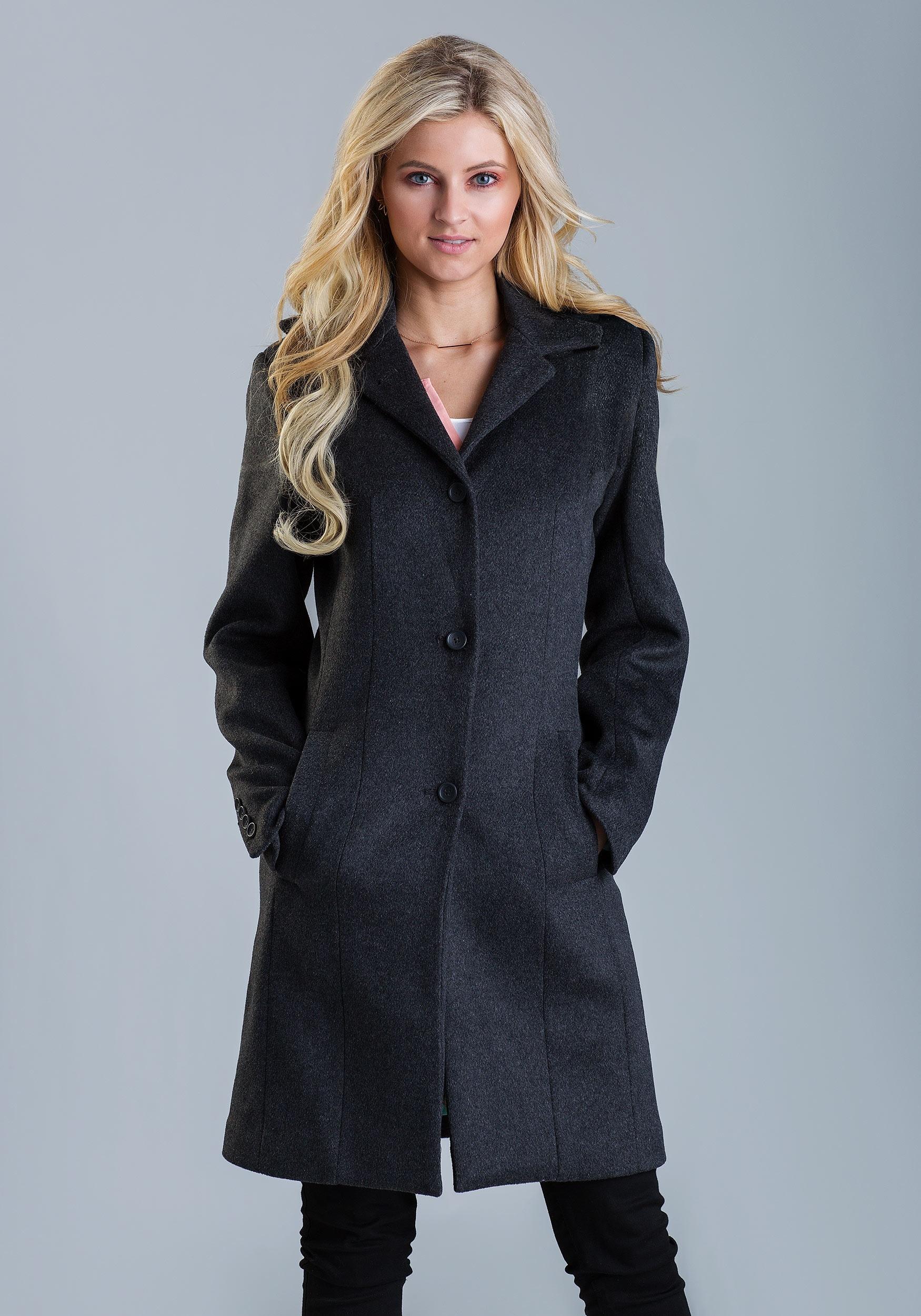 Classic Marvel Wool Coat For Women