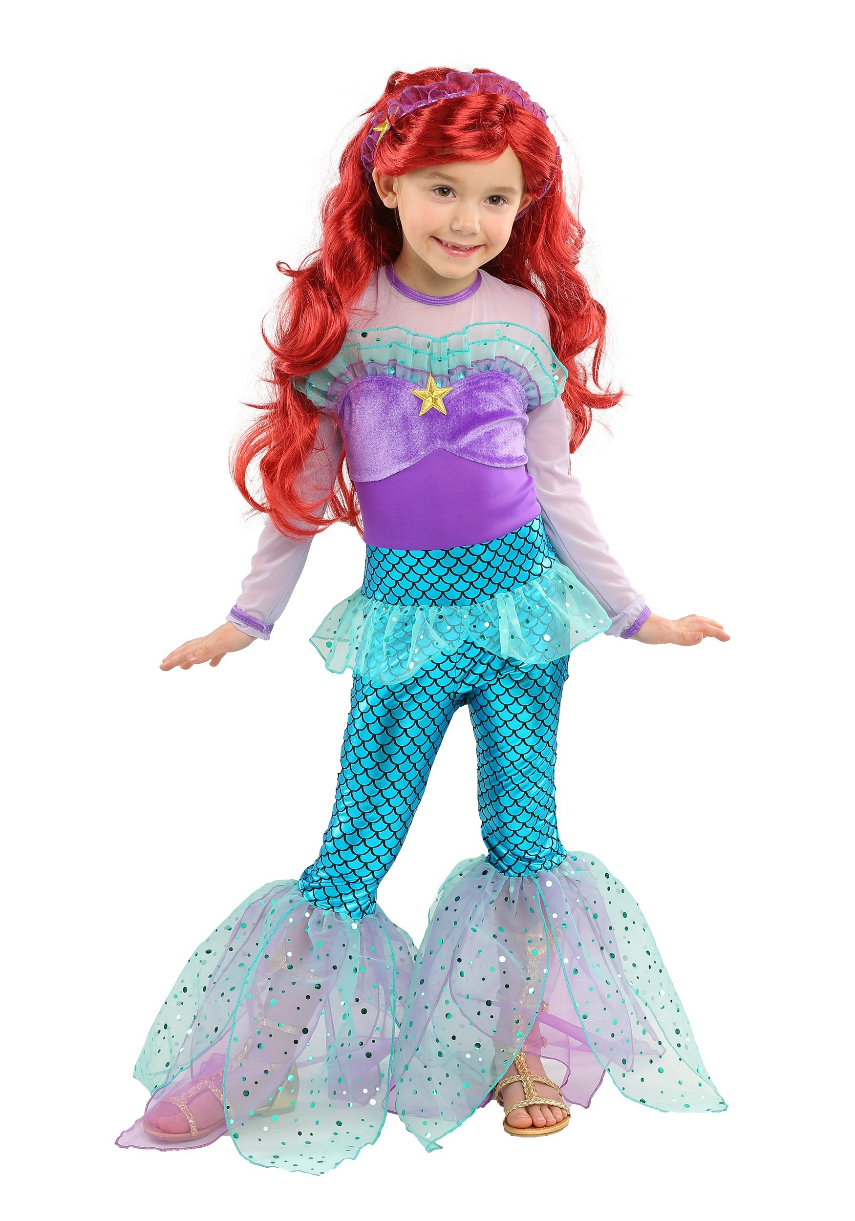 Playful Mermaid Girls Costume  sc 1 st  Halloween Costumes & Mermaid Costumes - Adult Child Little Mermaid Costumes