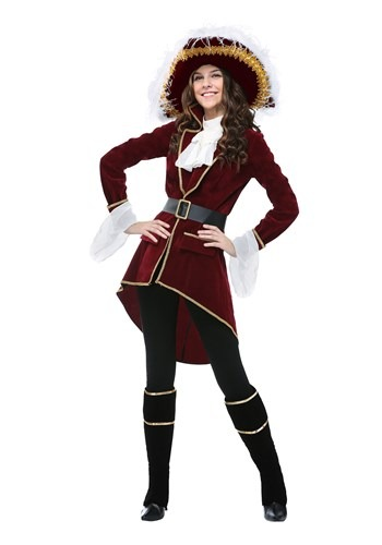 Click Here to buy Captain Hook Womens Plus Size Costume from HalloweenCostumes, CDN Funds
