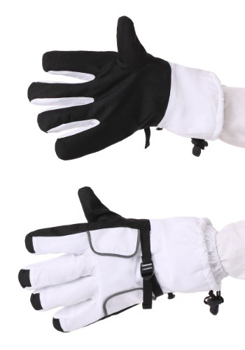 Astronaut Adult White Gloves