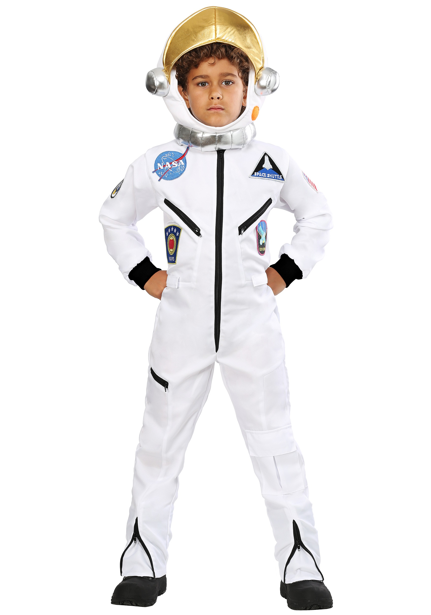 c263336771dd Kid s White Astronaut Jumpsuit Costume