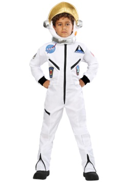 Kids White Astronaut Jumpsuit Costume