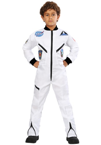 Click Here to buy Kids White Astronaut Jumpsuit Costume from HalloweenCostumes, CDN Funds