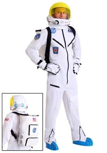 White Astronaut Jumpsuit Adult Costume