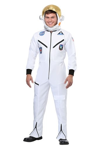 Click Here to buy White Astronaut Jumpsuit Adult Costume from HalloweenCostumes, CDN Funds
