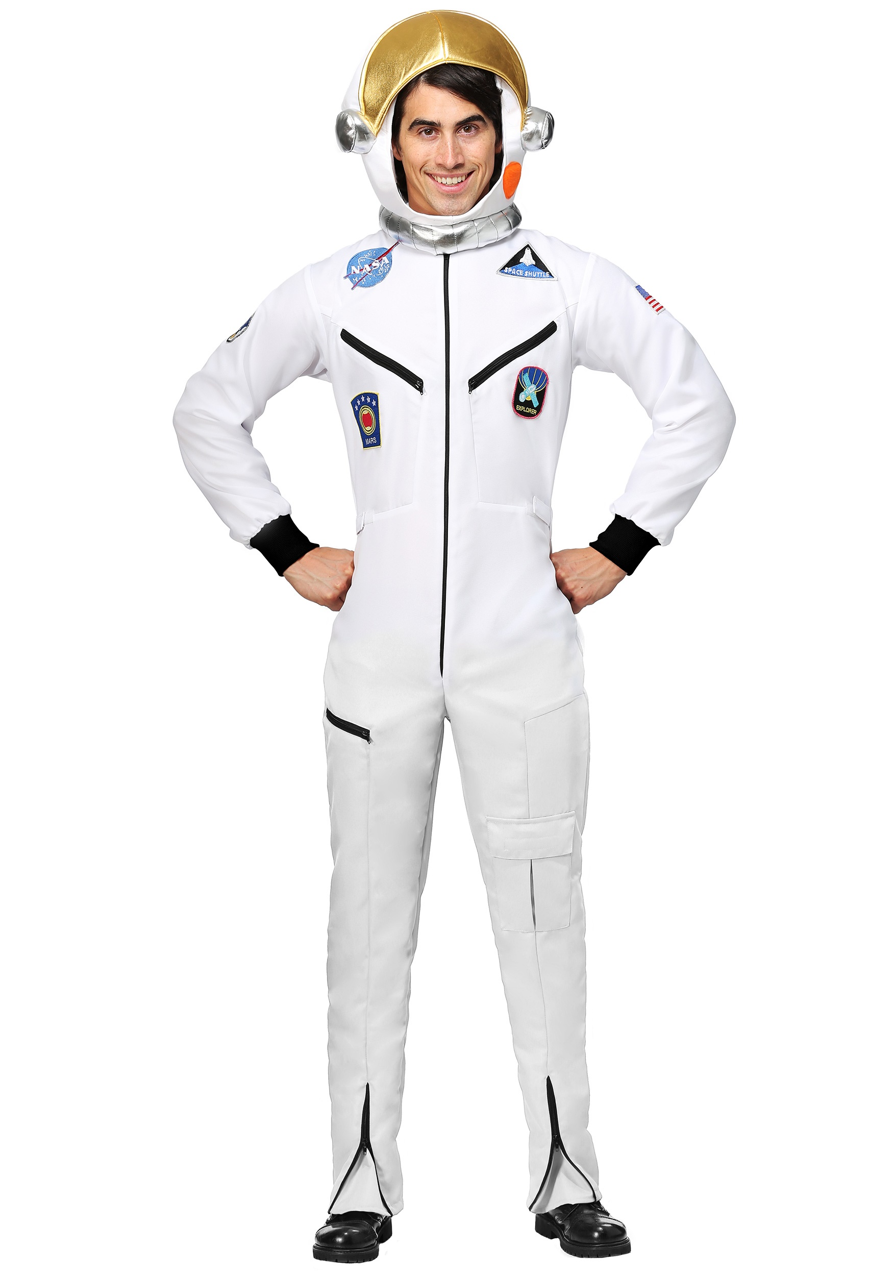 a3177a6103c7 White Astronaut Jumpsuit Adult Plus Size Costume 2X 3X 4X
