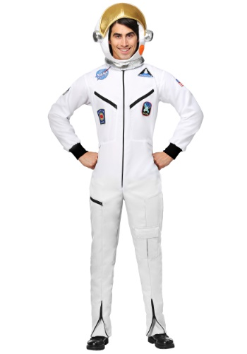 White Astronaut Jumpsuit Adult Plus Size Costume
