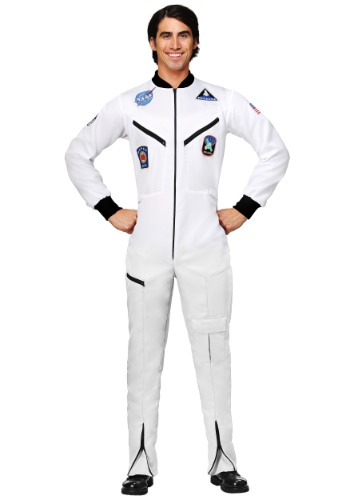 Click Here to buy White Astronaut Jumpsuit Plus Size Adult Costume 2X 3X 4X from HalloweenCostumes, CDN Funds