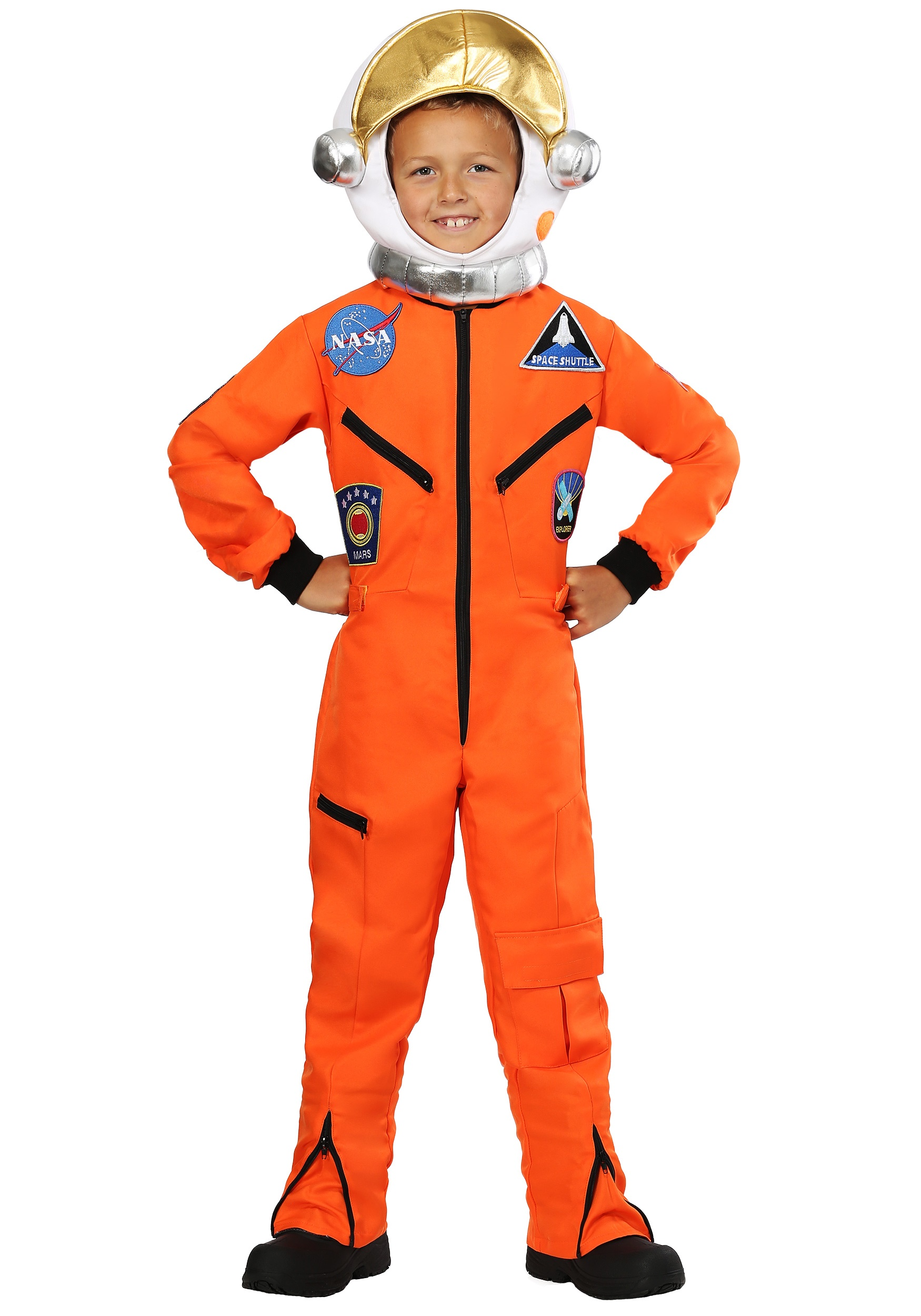 cef8c8855d8b Orange Astronaut Jumpsuit Child Costume