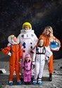 Kids Orange Astronaut Jumpsuit Costume1