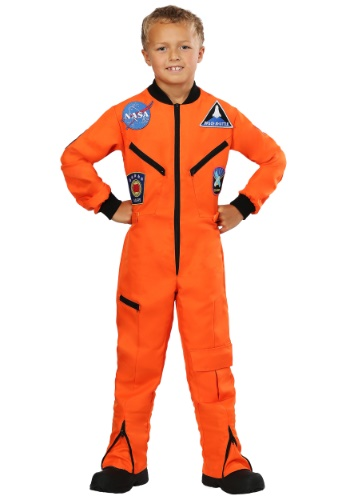Click Here to buy Orange Astronaut Jumpsuit Kids Costume from HalloweenCostumes, USA Funds & Shipping