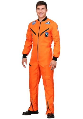 Click Here to buy Orange Astronaut Jumpsuit Adult Costume from HalloweenCostumes, USA Funds & Shipping