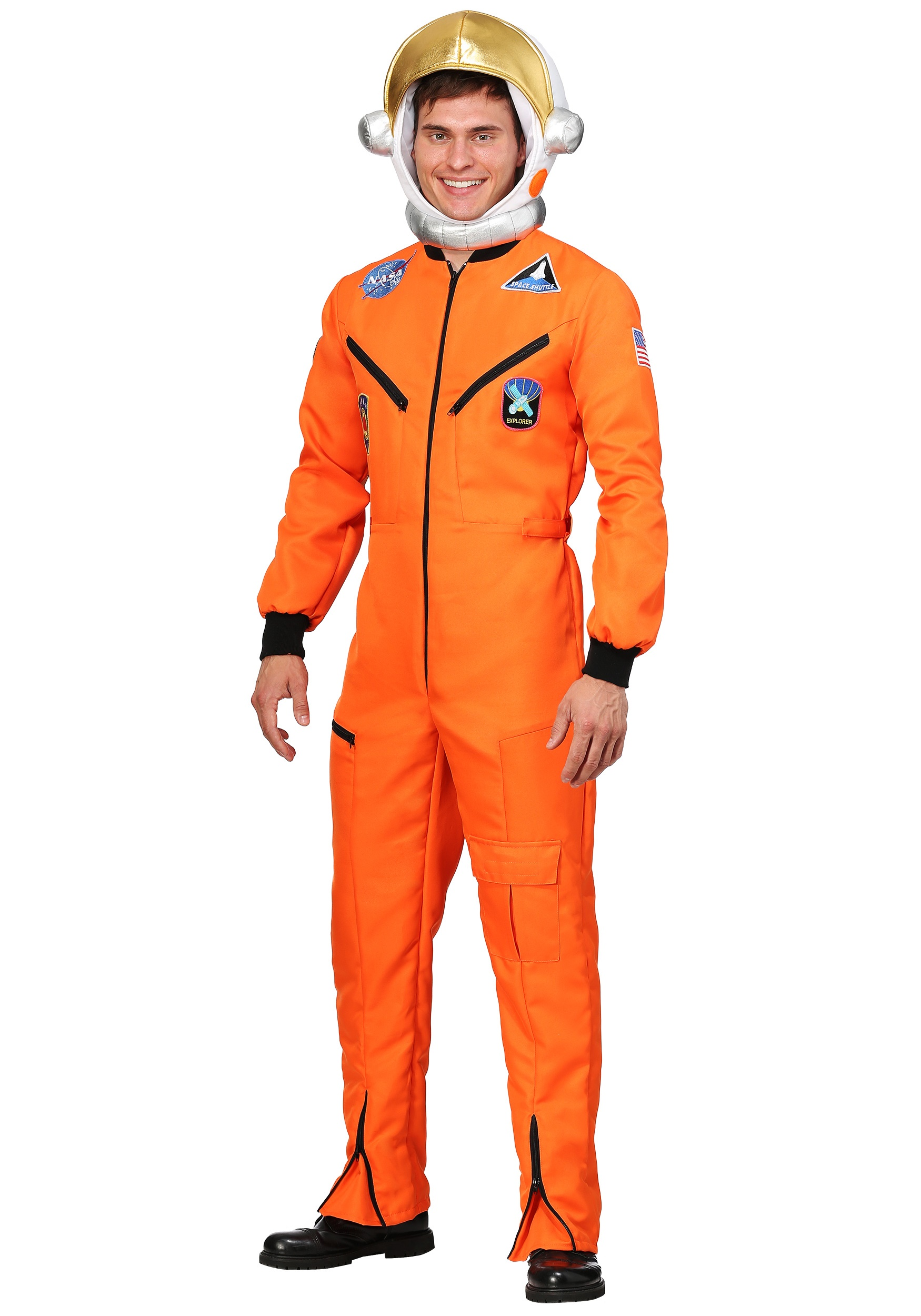 Orange Astronaut Jumpsuit Costume  sc 1 st  Halloween Costumes & Orange Astronaut Jumpsuit Adult Plus Size Costume