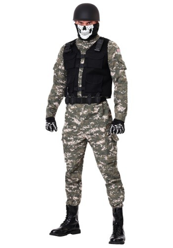 Click Here to buy Battle Soldier Mens Costume from HalloweenCostumes, CDN Funds