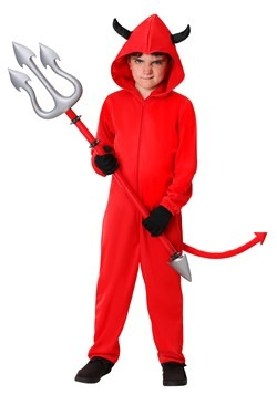 Child Devil Jumpsuit Costume Update Main