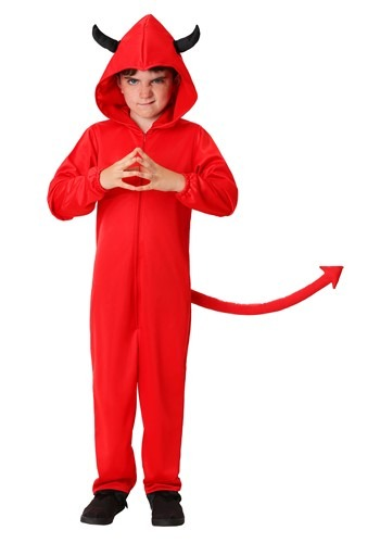 Child Devil Jumpsuit Costume