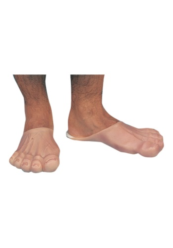 Click Here to buy Mens Funny Feet - Flintstones Adult Costume Accessories from HalloweenCostumes, CDN Funds