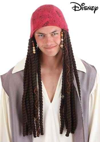 Click Here to buy Jack Sparrow Bandana and Dreads Set for Adults from HalloweenCostumes, CDN Funds