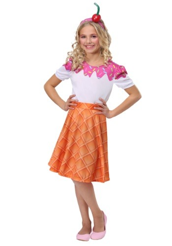 Girls Ice Cream Cone Costume