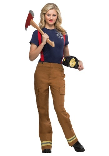 Womens Fire Captain Plus Size Costume