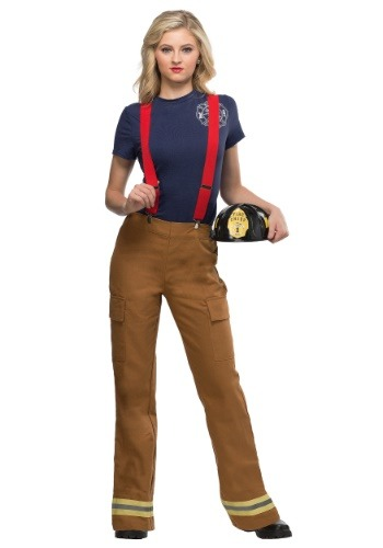 Click Here to buy Fire Captain Plus Size Womens Costume from HalloweenCostumes, CDN Funds
