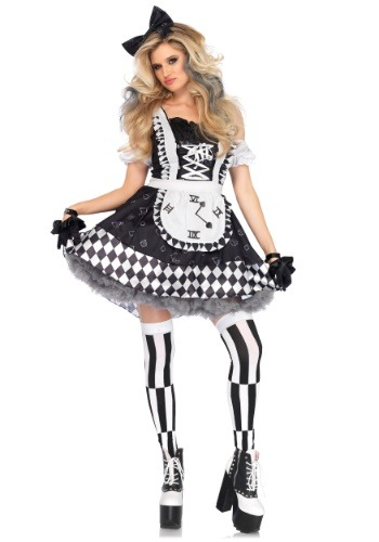 Click Here to buy Dark Wonderland Alice Womens Costume from HalloweenCostumes, CDN Funds