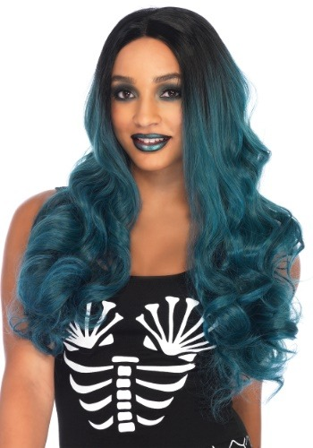 Click Here to buy Blended Two-Tone Long Wavy Womens Wig from HalloweenCostumes, CDN Funds