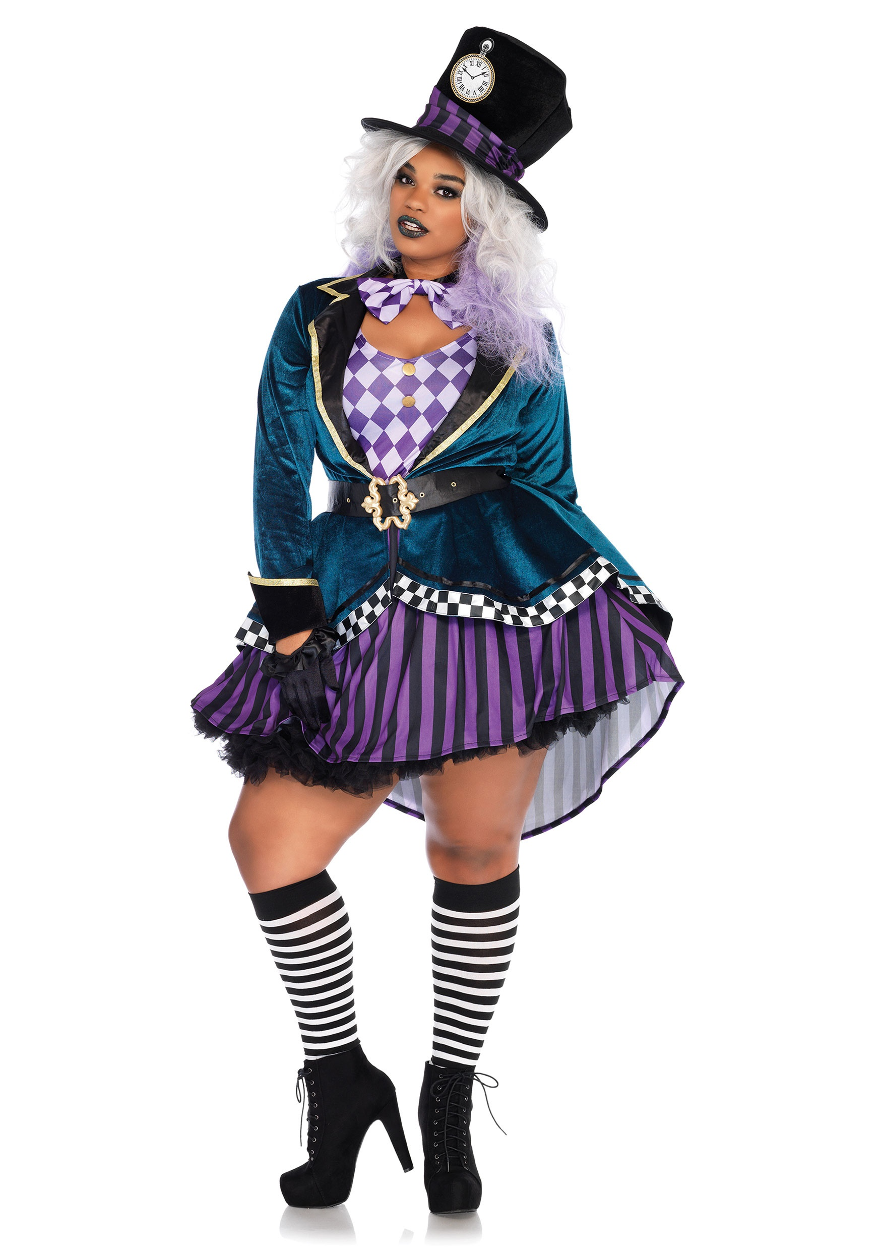 Womenu0027s Plus Size Delightful Mad Hatter Costume  sc 1 st  Halloween Costumes & Plus Size Ladies Delightful Mad Hatter Costume 1X/2X 3X/4X 5X