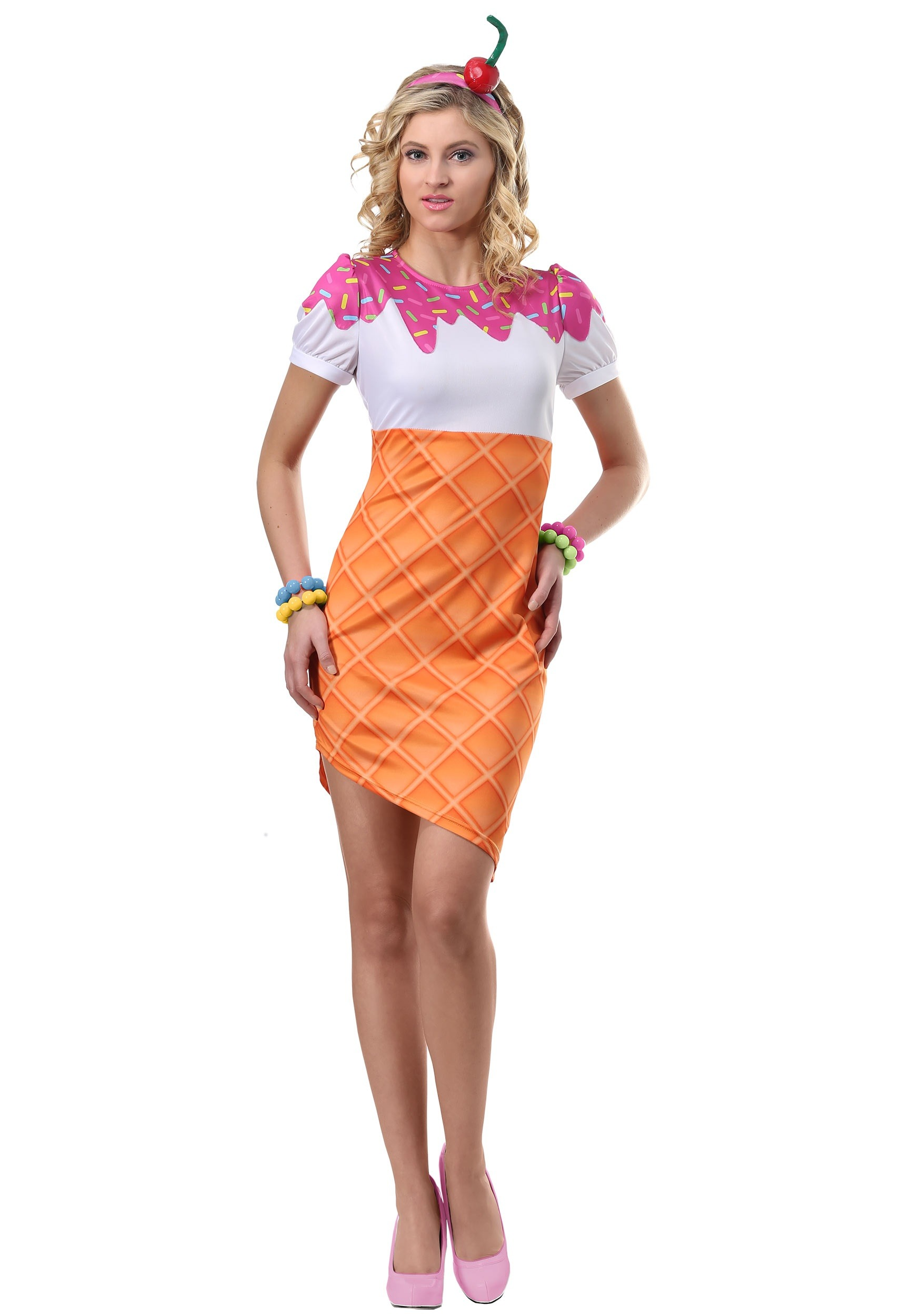 Adult Ice Cream Cone Halloween Costume