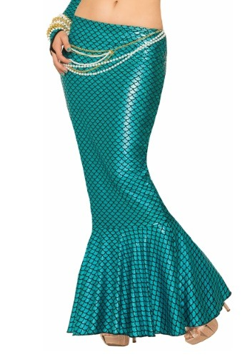 Click Here to buy Blue Mermaid Fin Womens Skirt from HalloweenCostumes, USA Funds & Shipping