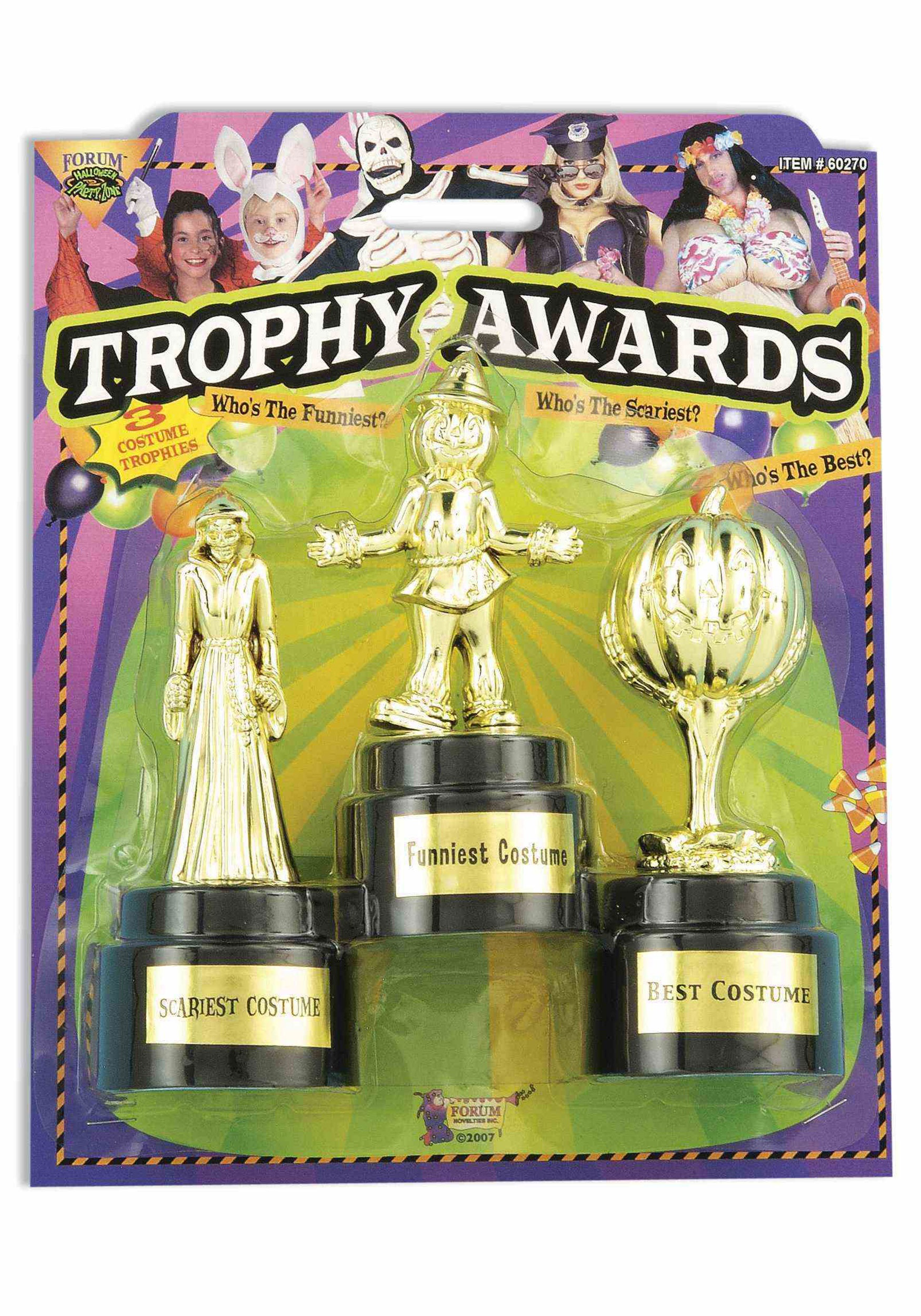 Costume Party Award Trophies - 3 Pack  sc 1 st  Halloween Costumes & Costume Party 3 Pack Award Trophies