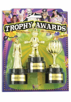 Costume Party Award Trophies - 3 Pack