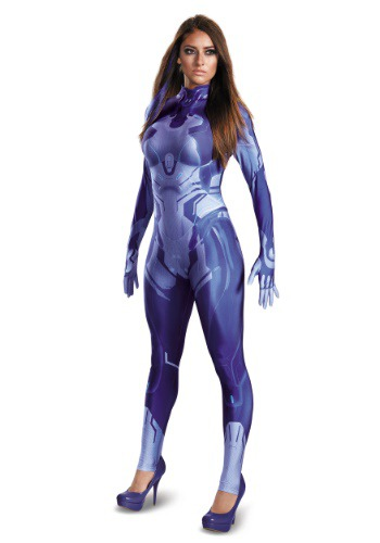 Click Here to buy Halo Cortana Bodysuit Womens Costume from HalloweenCostumes, USA Funds & Shipping