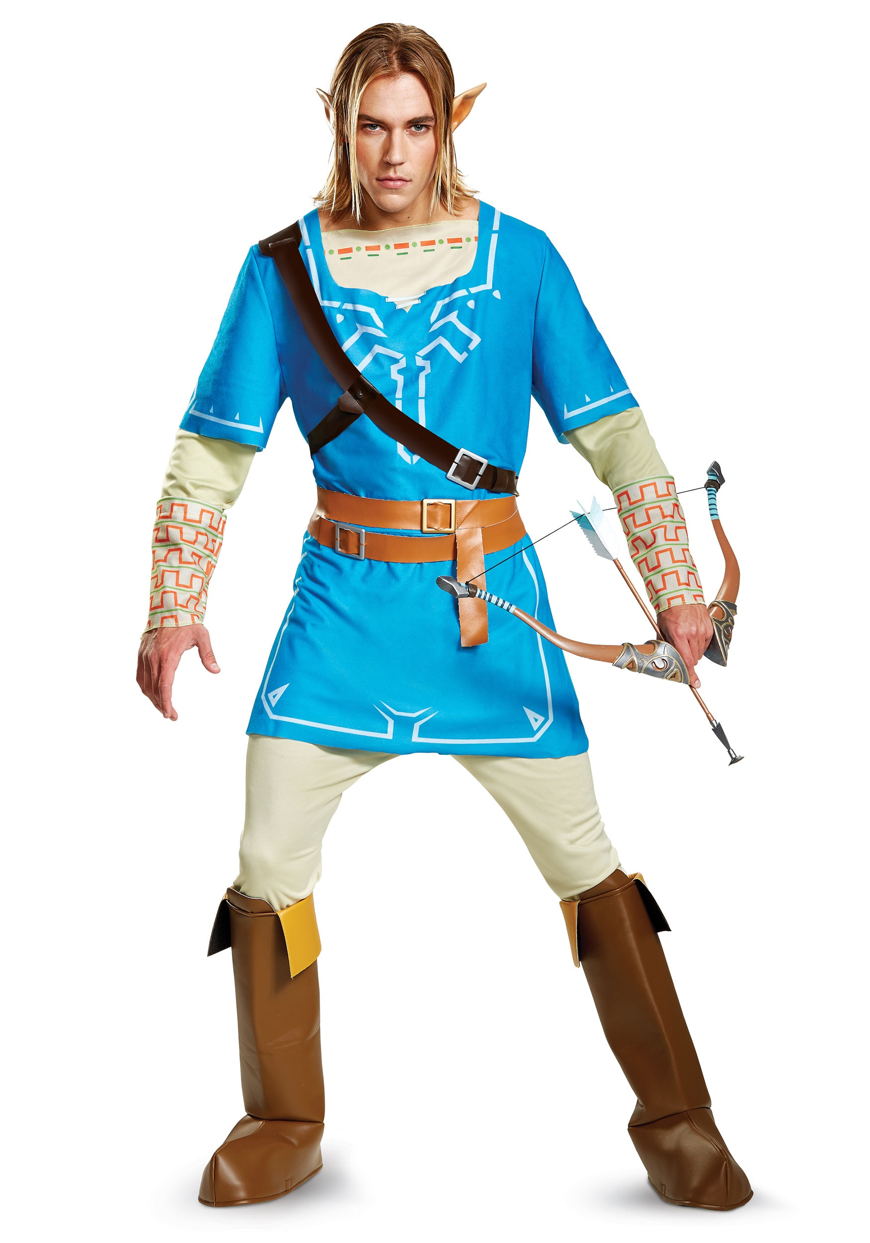 Legend of Zelda Link Breath of the Wild Mens Deluxe Costume  sc 1 st  Halloween Costumes & Link u0026 Princess Zelda Costumes - HalloweenCostumes.com