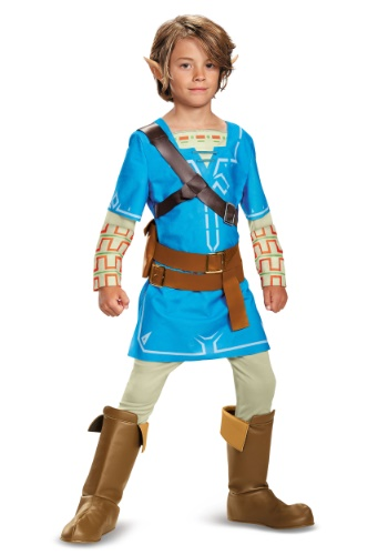 Click Here to buy Legend of Zelda Breath of the Wild Link Deluxe Boys Costume from HalloweenCostumes, CDN Funds
