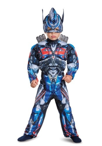 Click Here to buy Transformers Optimus Prime Muscle Costume for Toddlers from HalloweenCostumes, USA Funds & Shipping