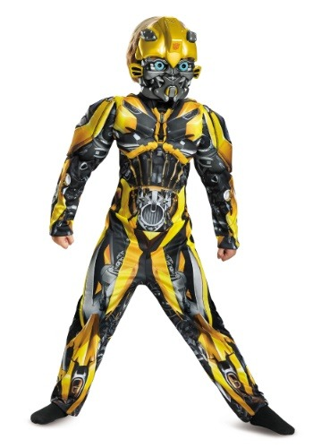 Click Here to buy Bumblebee Kids Muscle Costume from the Transformers from HalloweenCostumes, CDN Funds