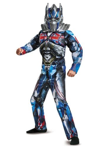 Click Here to buy Optimus Prime Kids Muscle Costume from HalloweenCostumes, CDN Funds