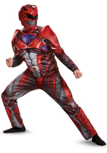 Click Here to buy Power Rangers Movie Red Ranger Deluxe Mens Costume from HalloweenCostumes, USA Funds & Shipping
