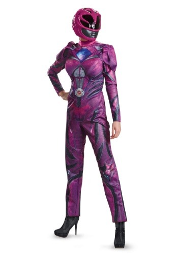 Click Here to buy Power Rangers Movie Pink Ranger Deluxe Womens Costume from HalloweenCostumes, CDN Funds