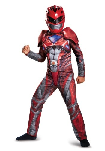 Click Here to buy Red Ranger Kids Classic Muscle Costume from the Power Rangers Movie from HalloweenCostumes, USA Funds & Shipping