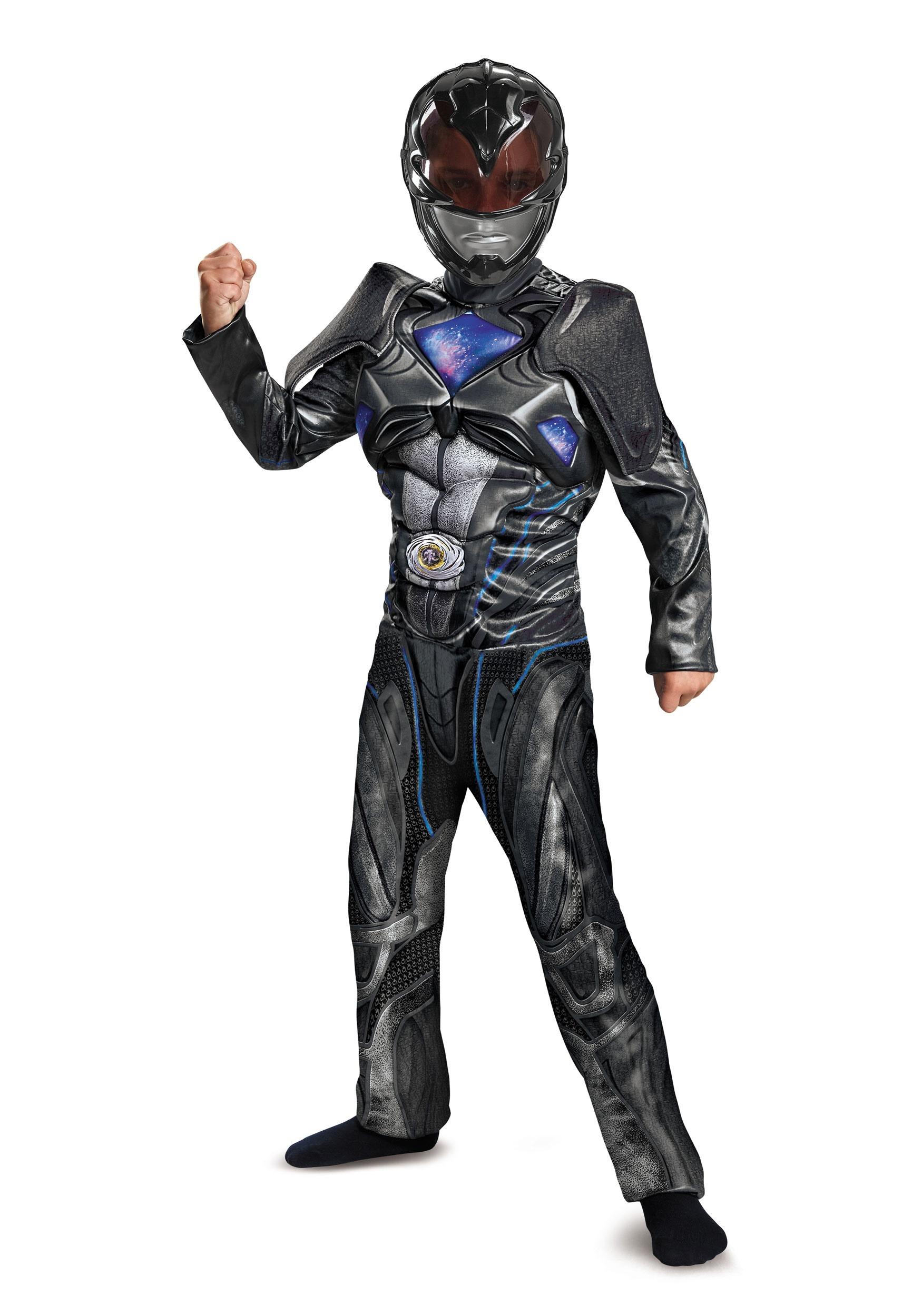 power rangers movie black ranger deluxe costume for boys. Black Bedroom Furniture Sets. Home Design Ideas