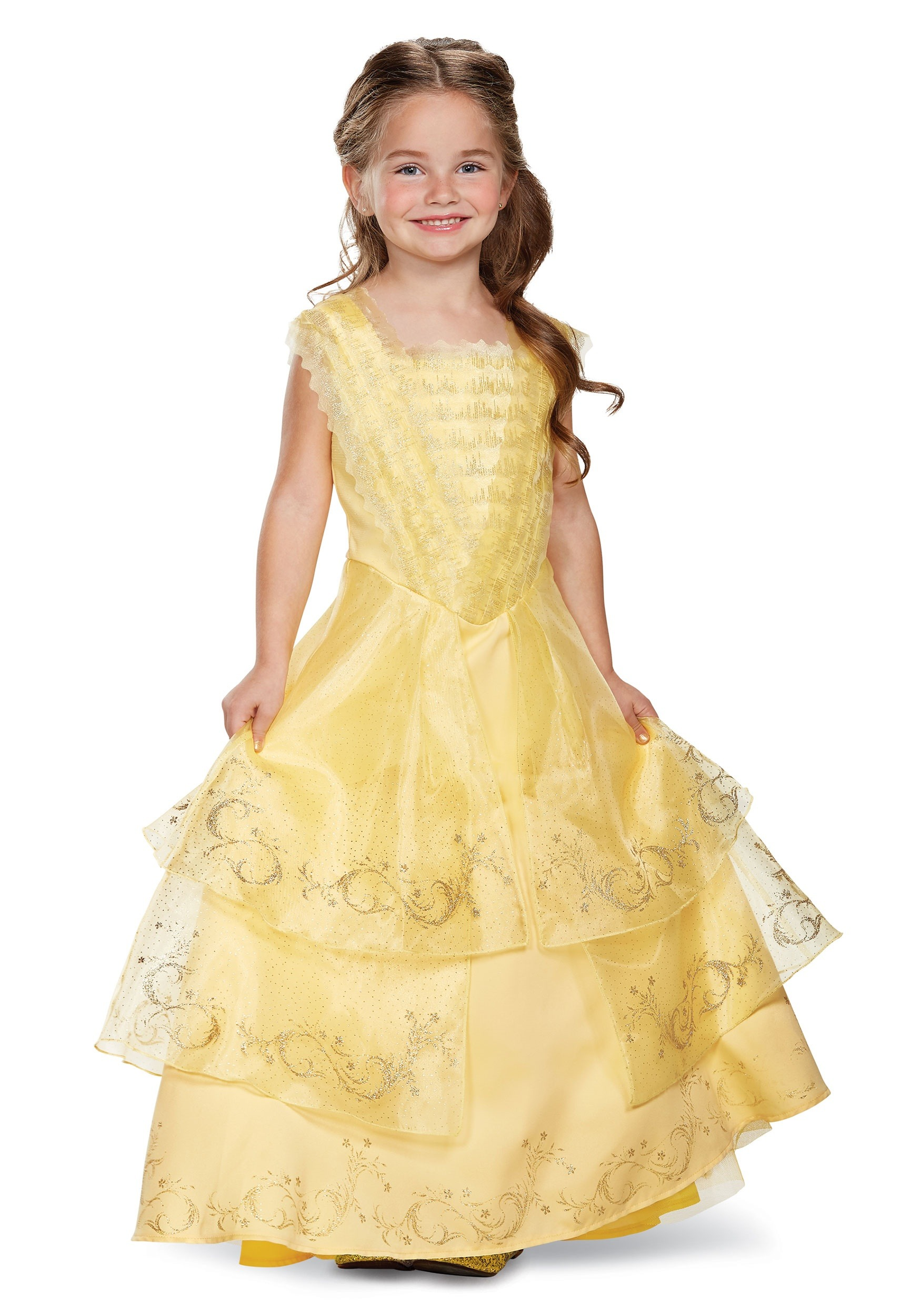 Belle Ball Gown Prestige Costume for Girls