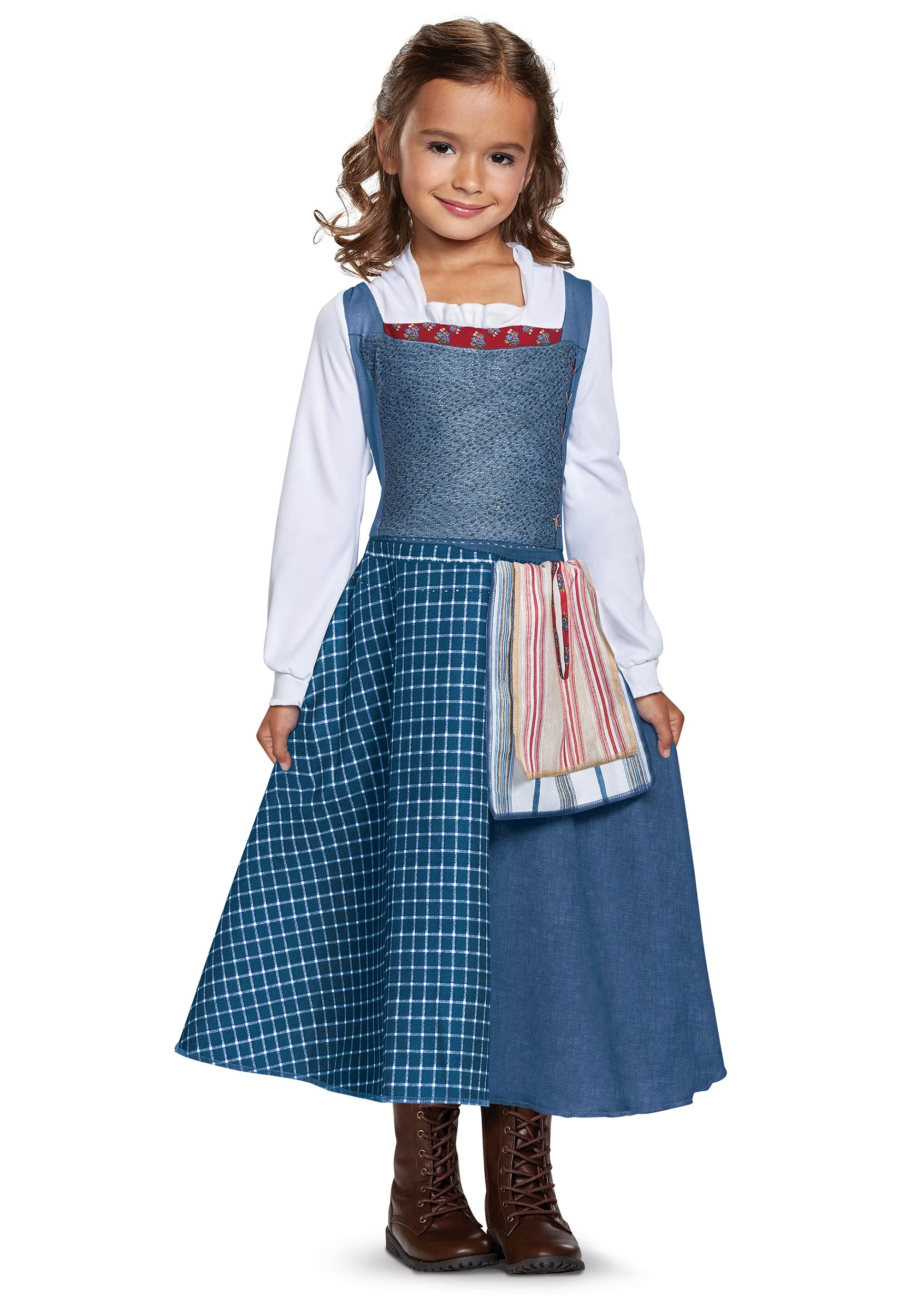 Officially licensed Belle blue dress costume for girls from new live action Beauty and the Beast movie