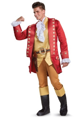 Click Here to buy Beauty and the Beast Gaston Deluxe Mens Costume from HalloweenCostumes, USA Funds & Shipping