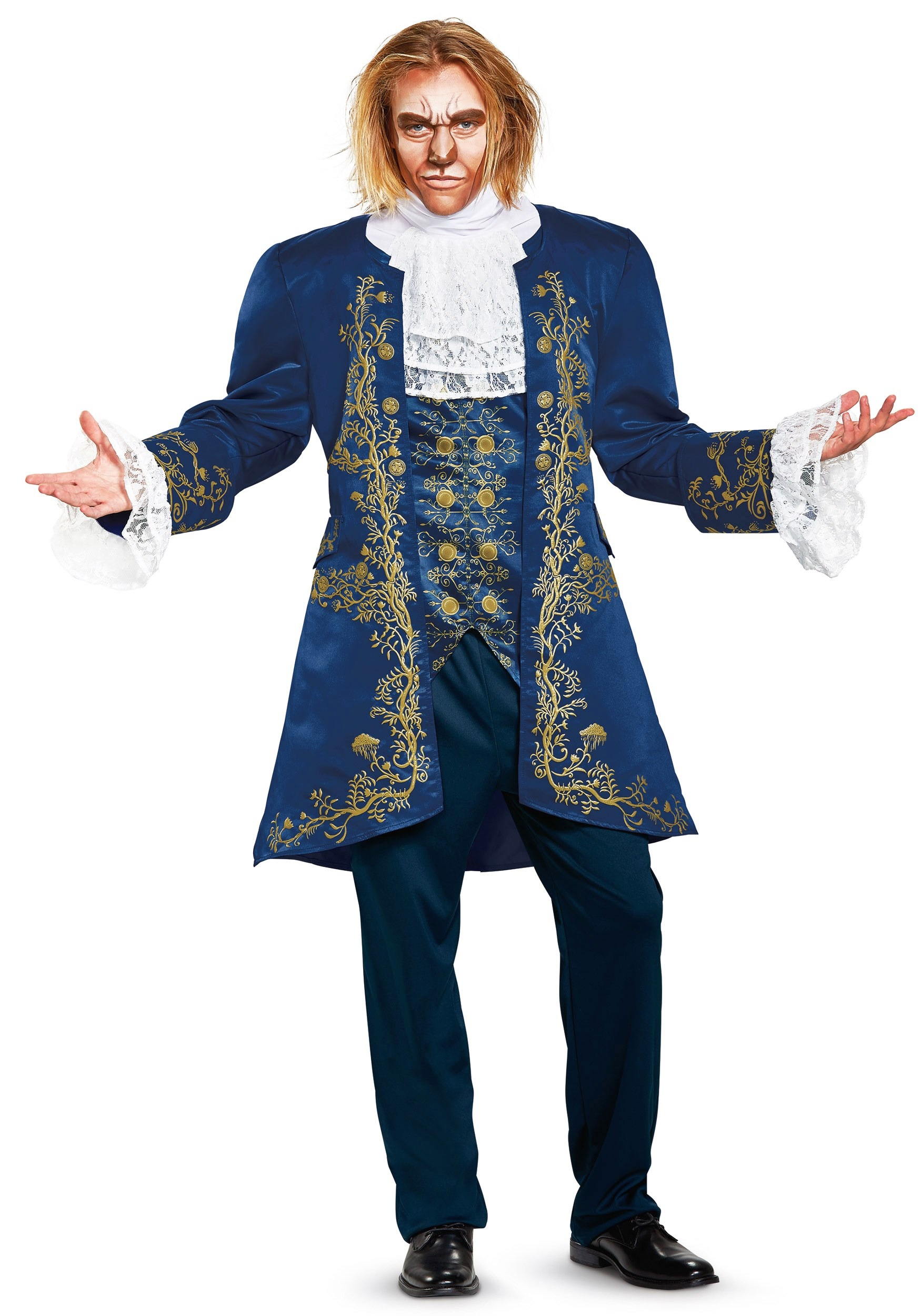 Beauty and the Beast live action design mens adult beast costume including Jacket/Vest Combo Pants Cravat Shoulder Pad