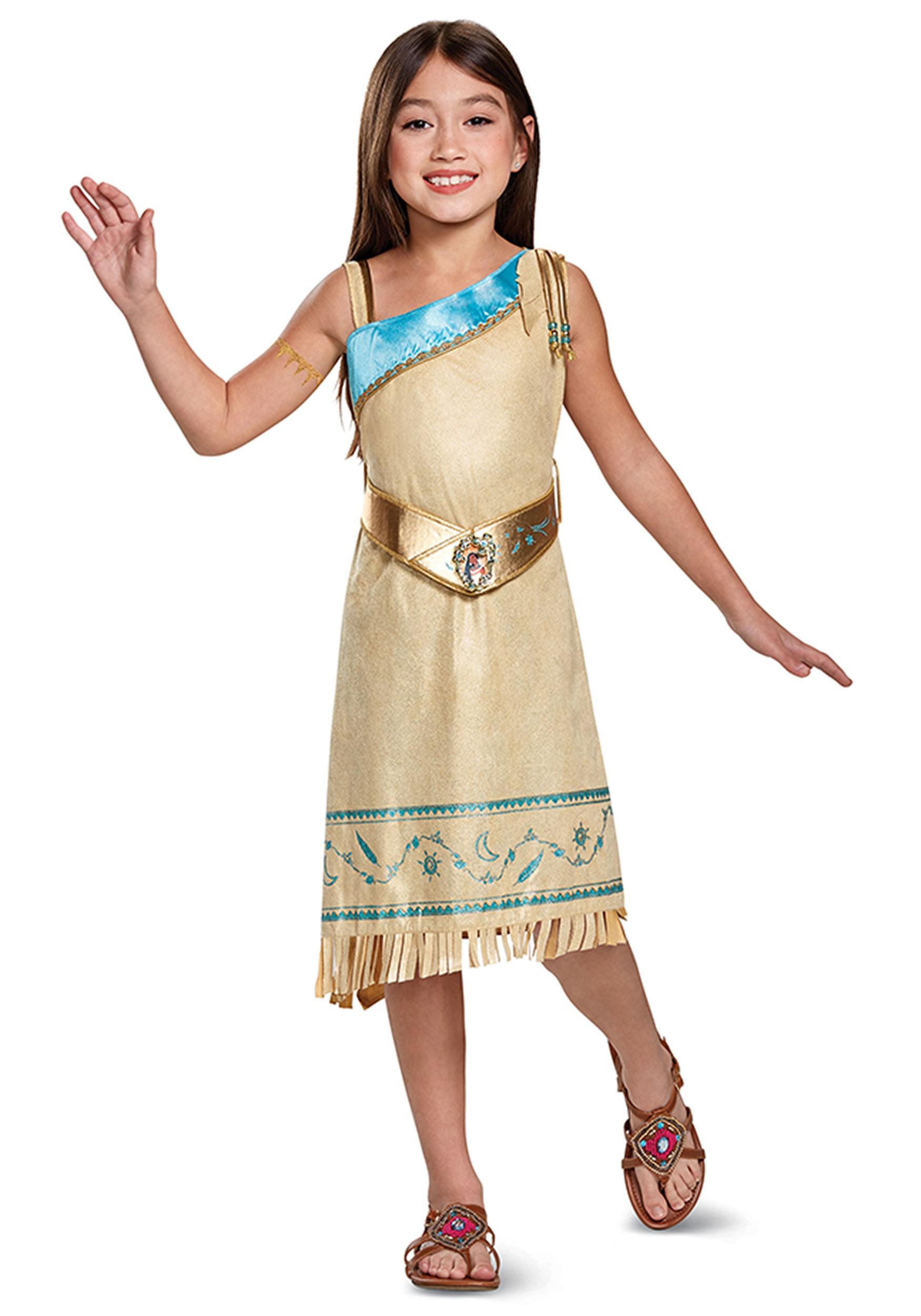Girls Pocahontas Deluxe Costume  sc 1 st  Halloween Costumes & Pocahontas Deluxe Child Costume